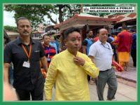 HCM SHRI P S TAMANG VISIT THE HOLY KAMAKHYA MANDIR ON 3.08.2019