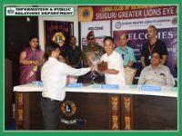 HCM VISITS GREATER LION'S EYE HOSPITAL IN SILIGURI ON 07.08.2019