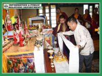HCM VISITS ALLEY DARA BHUTIA GUMPA AT MANIRAM BHANJYANG ON 09.08.2019